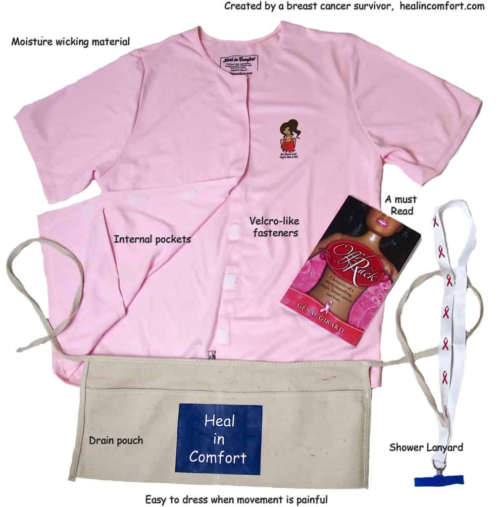 Heal In Comfort - Post Operative Mastectomy Shirts for Breast Cancer