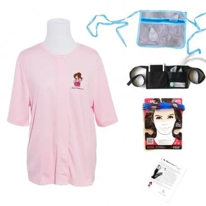 healincomfort kit after breast cancer surgery recovery shirt robe - mastectomy with drains