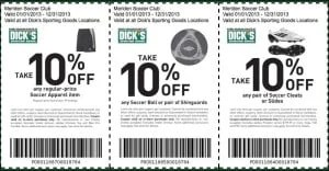 Soccer Dicks Sporting Goods Coupons