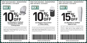 Softball and Baseball Coupons - Dicks Sporting Goods Coupons