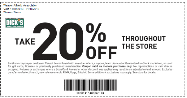 2020 Dicks Sporting Goods Printable Coupons Online And Printable Coupons