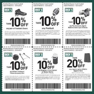 Football Coupons for Dicks Sports