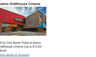 Alamo Drafthouse Coupon Deal - $5 Movie Tickets