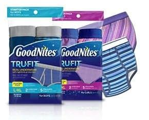 goodnites tru fit bedwetting underwear