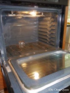 Open cleaned oven