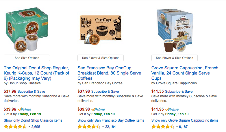 deal on discounted k cups amazon coffee