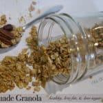 Homemade Granola Recipe - Healthy, Low Fat, Low Sugar