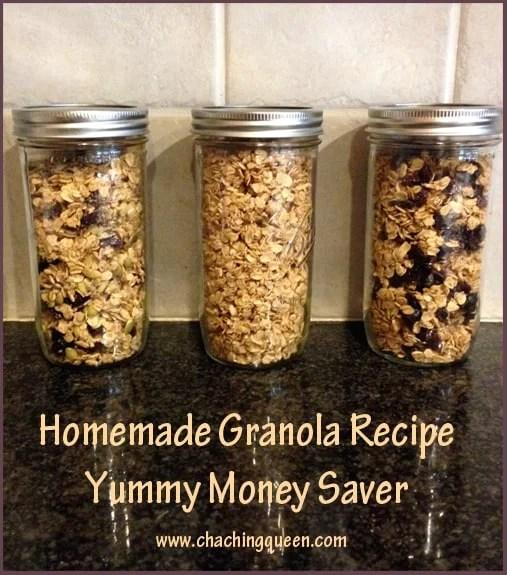 Homemade Granola in Mason Jars