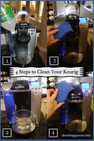 4 easy steps to clean your keurig - Pinterest pin
