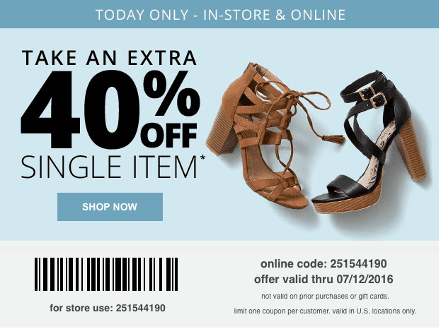 payless printable coupon code july 2016 40 percent off