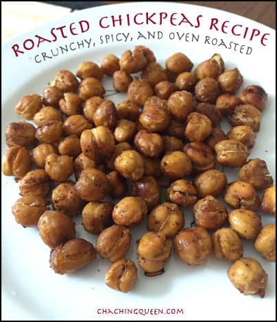 Roasted Chickpeas Recipe Crunchy Spicy Oven Roasted