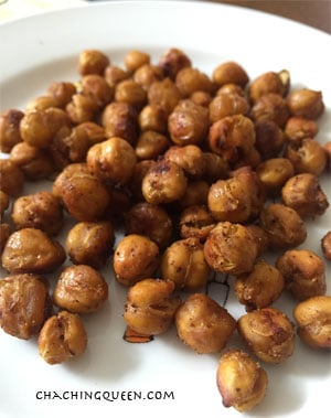 roasted chickpeas recipe healthy gluten free paleo