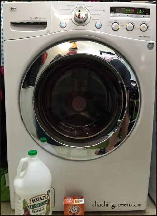 using vinegar and baking soda to clean front loading LG washing machine