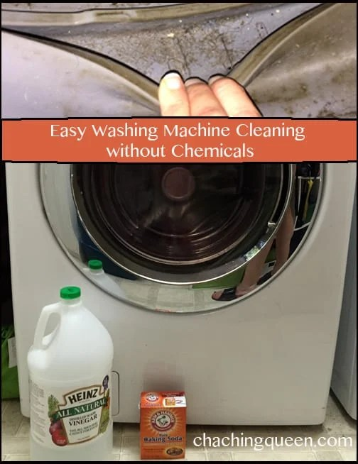 Easy Washing Machine cleaning without Chemicals - Pinterest Pin