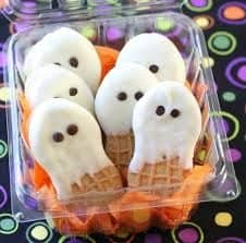 Nutter Butter Ghosts easy halloween treat dessert