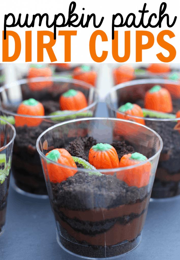 Pumpkin Patch Dirt Cup Halloween Treats Recipes