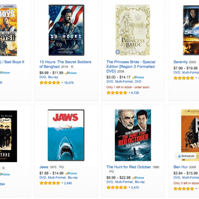 Amazon Movies Deal – DVDs $10 and Under
