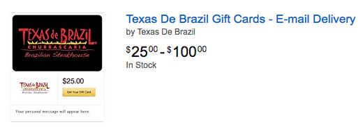 deals on texas de brazil gift cards