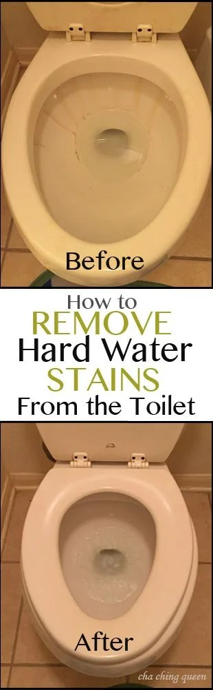 How to remove hard water stains from your toilet. Pinterest Long Pin