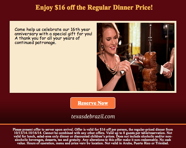texas de brazil printable coupon october 2014