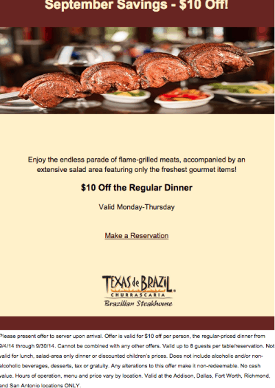 texas de brazil printable coupon september 2014
