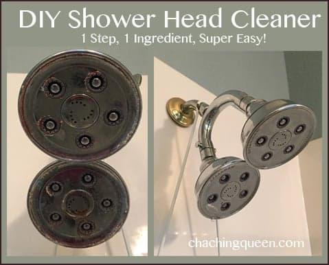 DIY Shower Head Cleaning - 1 Step, 1 Ingredient, Super Easy!