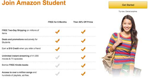 Amazon Student Benefits