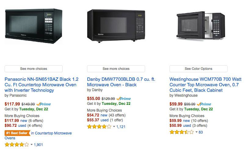 amazon deals on microwaves - buy a new microwave rather than cleaning your old one
