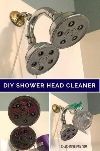 diy how to clean your shower head with vinegar - natural cleaning