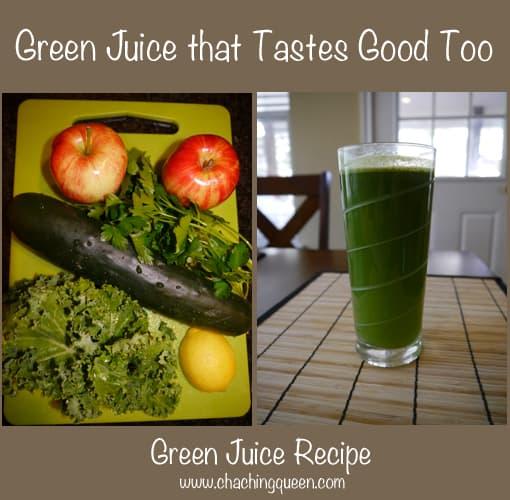 Green Juice Recipe Tastes Good Vegetables Fruit