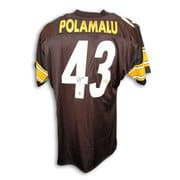 NFL - Troy Polamalu Pittsburgh Steelers Autographed Black Throwback Jersey