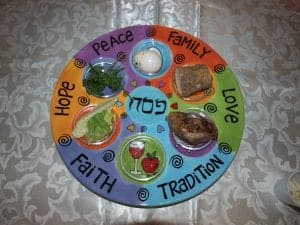 Our Family Passover Seder Plate