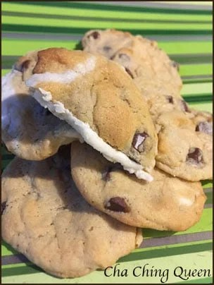 Surprise! Cream Filled Chocolate Chip Cookies Recipe with Buttercream Icing Inside