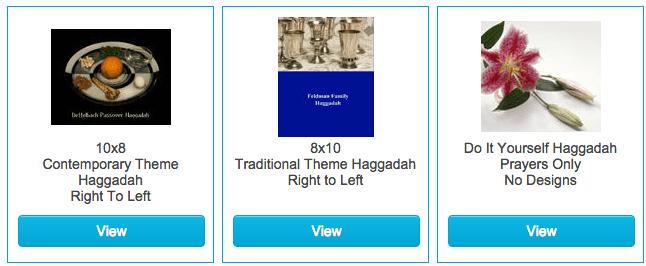 diy Passover Haggadahs online