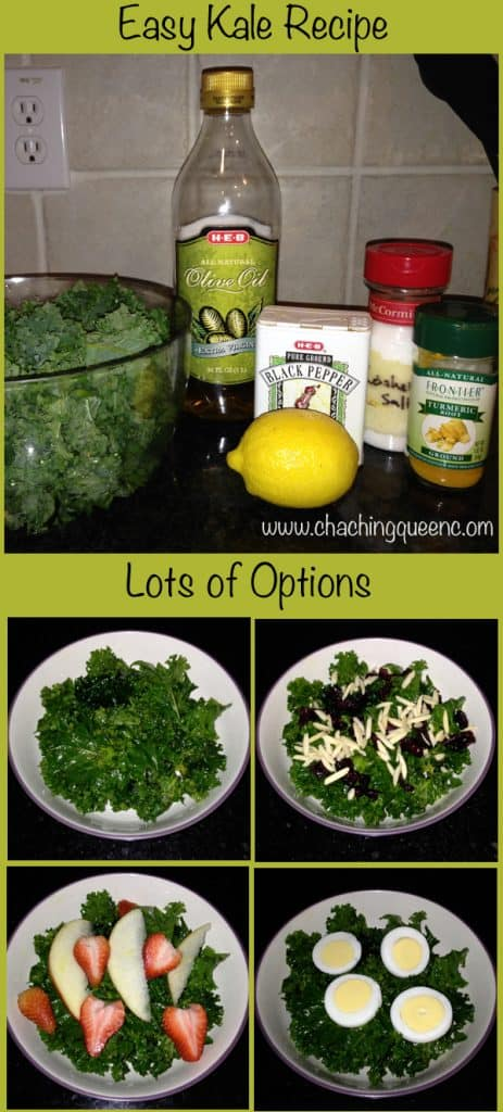 easy kale recipe lots of options protein fruit