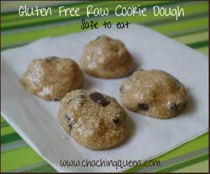 gluten free raw cookie dough recipe safe to eat dessert