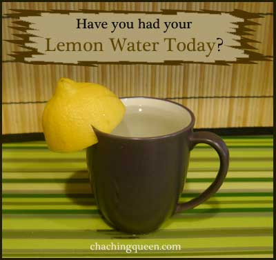Have you had your lemon water today?