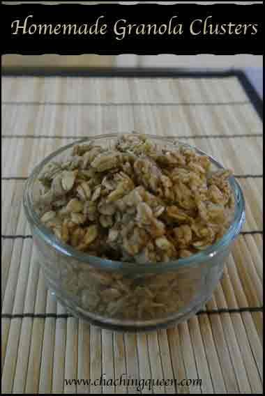 homemade granola clusters recipe