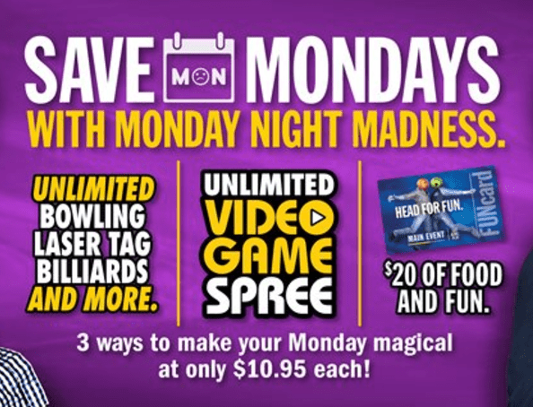 main event coupons - monday madness deal