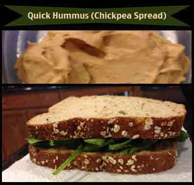 quick hummus chickpea spread recipe