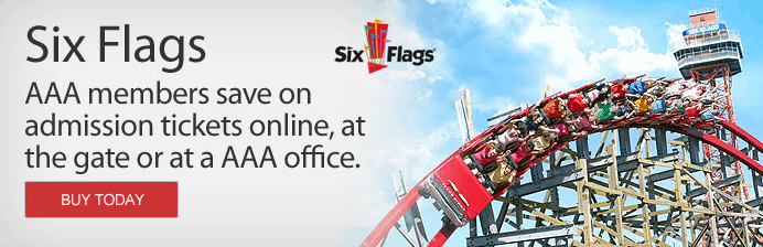six flags discounts for AAA members