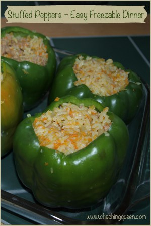 Stuffed Peppers – Easy Freezable Dinner Meal Recipe
