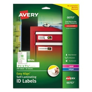Avery Easy Align Self-Laminating ID Labels