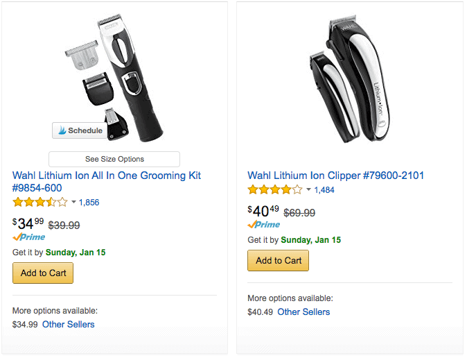 Discounted Wahl Trimmers and Home Barber Sets