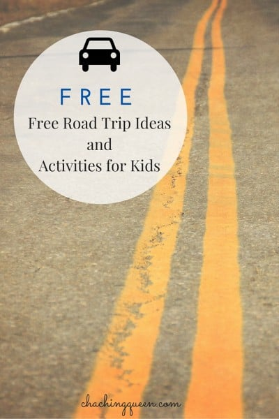 Free Road Trip Ideas and Activities for Kids