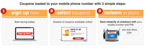 H-E-B digital coupons redeem in store at checkout
