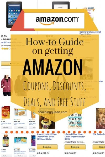 how to guide on getting Amazon coupons, discounts, deals, and free stuff - Pinterest Pin