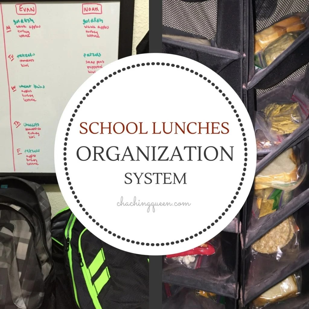 School Lunches Organization System for Stress Free Lunch Packing