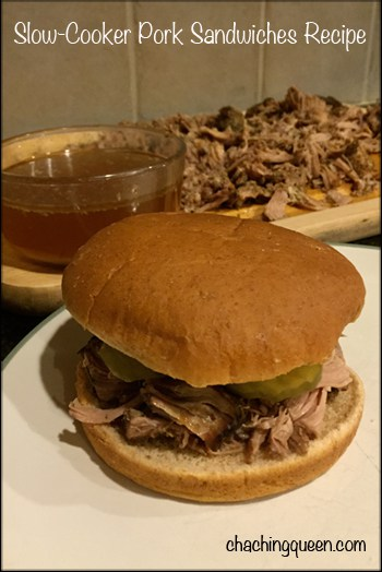 Slow Cooker Pork Sandwiches Recipe - Juicy and Tender Pork Sandwiches