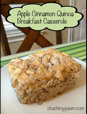 Apple Cinnamon Quinoa Breakfast Casserole Recipe – Easy Make Ahead Breakfast for the Week